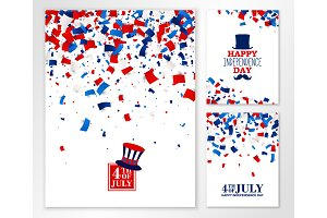 American Independence Day banner set
