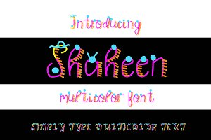 Shaheen Multicolor Font