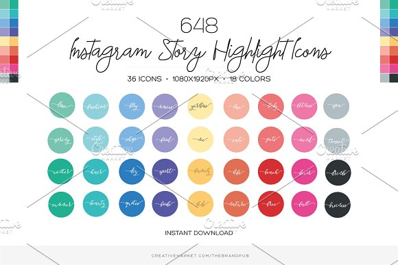 648 Instagram Story Highlight Covers