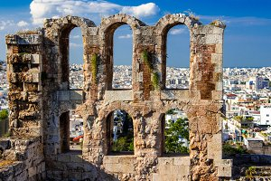 Ancient ruin In Athens