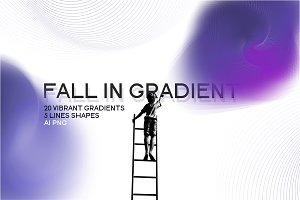 Fall in vibrant gradient.