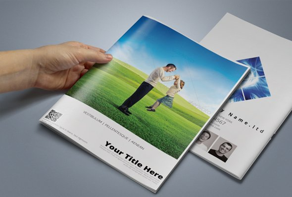 A Brochure Template Brochure Templates Creative Market - Brochure template photoshop free