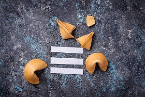 Traditional Chinese fortune cookies with prediction