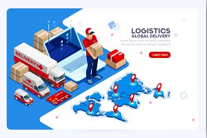 Logistics and Delivery Infographics