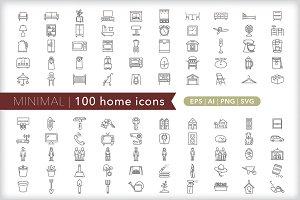 Minimal 100 home icons