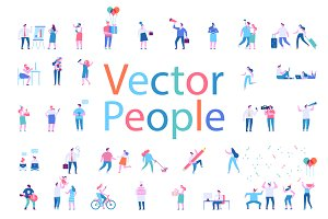 Different people big vector set