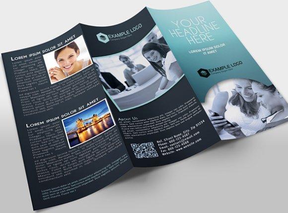 TriFold Brochure Template Brochure Templates Creative Market – 3 Fold Flyer Template