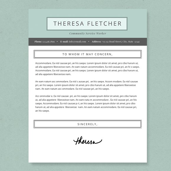 chic resume template package resume templates creative market