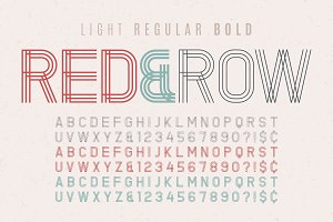 Decorative vintage typeface 3 in 1. Font, typeface, typography d