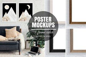 Poster Frame Mockup Bundle