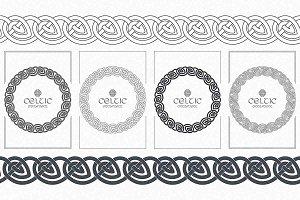 Celtic knot braided frame border