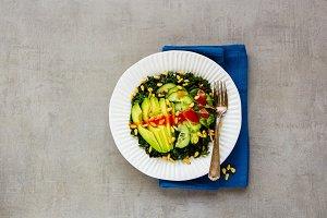 Green vegan salad