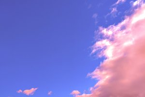 Pink unicorn sky. Minimal mood