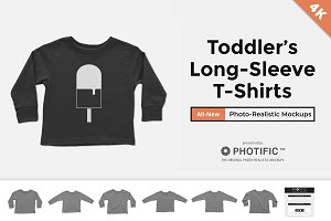 Toddler's Long Sleeve Shirt Mockups