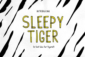 Sleepy Tiger - Font Duo