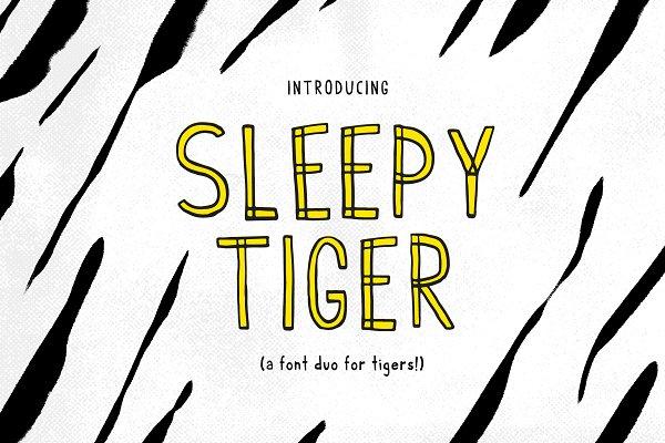 Sleepy Tiger - Font Duo