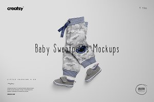 Baby Sweatpants Mockup Set
