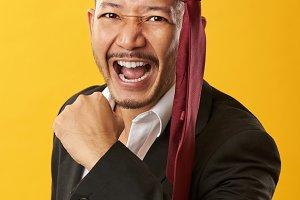 Successful asian man portrait