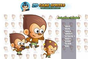 Monkey 2D Game Sprites