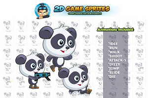 Panda Game Character Sprites