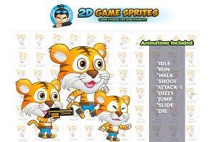Tiger 2D Game Sprites