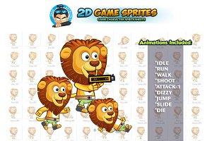 Lion 2D Game Sprites