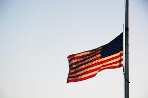 U.S. Flag at Half Mast (Photo)