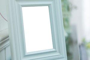 white frame Elegant vintage