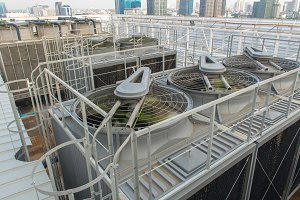 Ventilation system on roof top