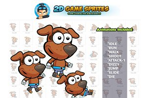 Doggy 2D Game Sprites