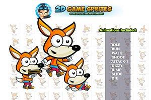 Fox 2D Game Sprites