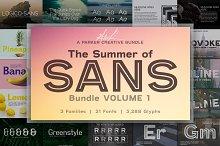 Summer of Sans Font Bundle - Vol 1