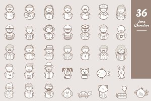 36 Icons Character Set