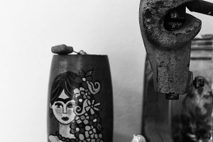 Frida Object in Black and White