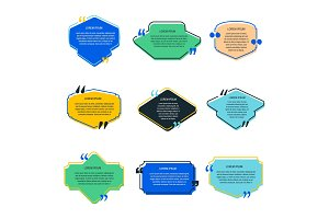 Quote box vector