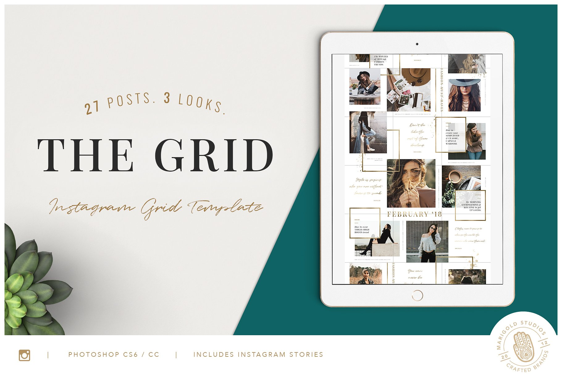 The Grid Instagram Posts Layout Social Media Templates