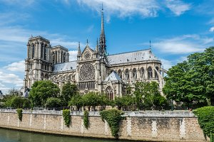 Cathedral of Notre Dame in Paris and