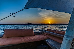 Sunset over Lamu Island