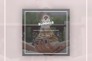 Hello Summer Instagram Banner