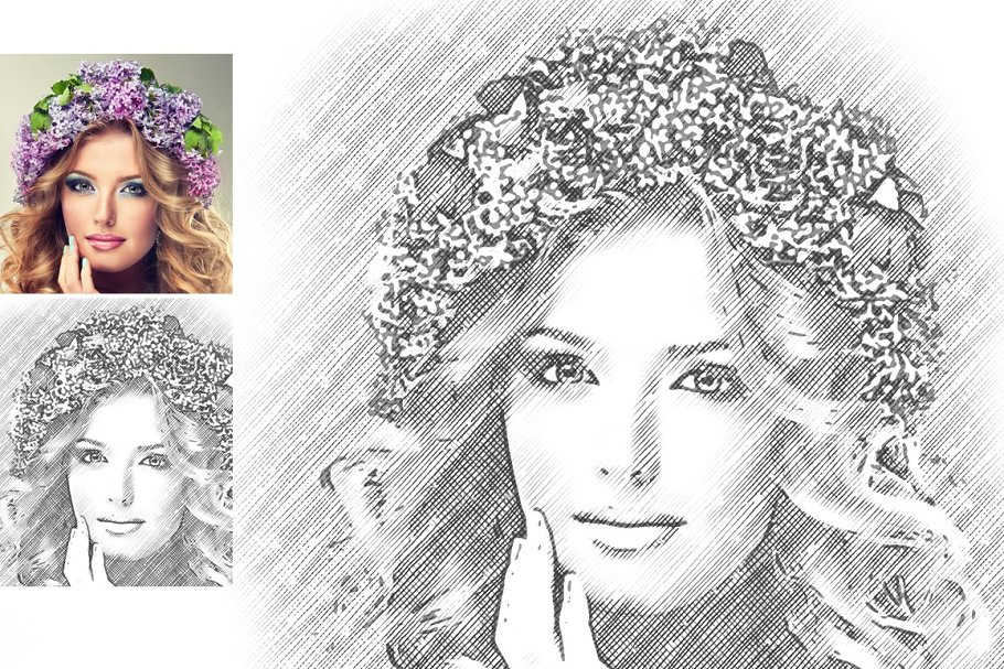 Pencil Sketch Photoshop Action ~ Photoshop Add-Ons