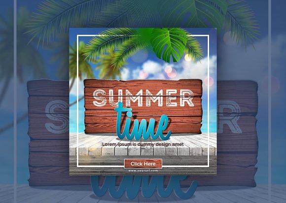 Summer Time Instagram Banner in Instagram Templates