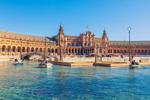 View of Beautiful Plaza de Espana,