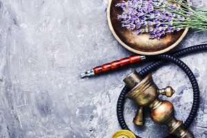 Asian tobacco hookah with lavender a