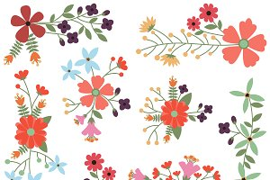 Vintage Flowers Vectors and Clipart