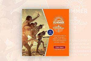Summer Holiday Instagram Banner