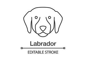 Labrador Retriever linear icon