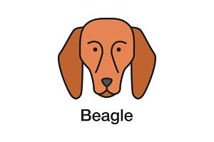 Beagle color icon