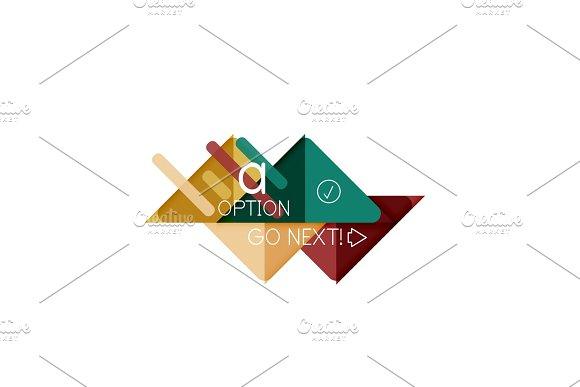 Triangle data visualization design, option infographic layout