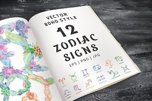 SALE Zodiac Signs Vector