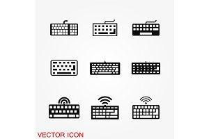 Keyboard icon vector